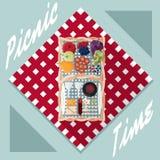 koszykowa płaska projekta wektoru ilustracja royalty ilustracja