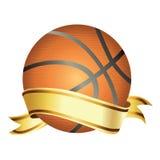 Koszykowa piłka z sztandarem Fotografia Stock