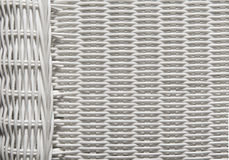 Koszykowa tekstura Wyplata wzór, Biały Łozinowy tło Zdjęcia Royalty Free