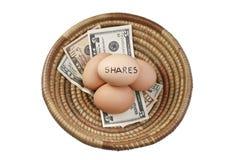 Koszykowe jajko części Obrazy Royalty Free