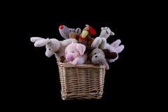 koszykowe miękkie zabawki wattled Obrazy Royalty Free