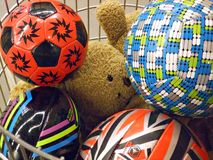 koszykowe zabawki. Fotografia Royalty Free