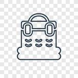 Koszykowego pojęcia wektorowa liniowa ikona odizolowywająca na przejrzystym backgr ilustracji