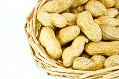 koszykowi arachidy fotografia stock