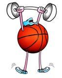 Koszykowi balowi podnośni ciężary ilustracja wektor