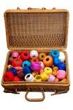 koszykowi bawełniani skręty Zdjęcie Stock