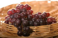 koszykowi dojrzałych winogron Obrazy Royalty Free