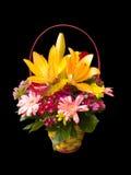 koszykowi kwiaty Zdjęcia Royalty Free