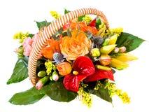 koszykowi kwiaty Fotografia Royalty Free