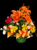 koszykowi kwiaty Zdjęcia Stock