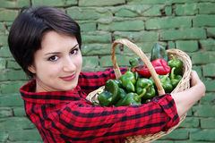 koszykowi mienia kobiety potomstwa Fotografia Stock