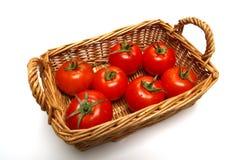 koszykowi pomidorów Zdjęcia Stock