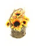 koszykowi słoneczniki Obrazy Royalty Free