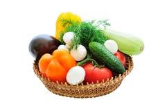 koszykowi warzywa Obraz Royalty Free