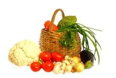 koszykowi warzywa zdjęcie stock