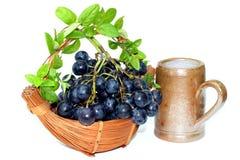 Koszykowi winogrona Obraz Stock