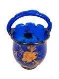koszykowy błękitny krystaliczny złoto Zdjęcia Stock