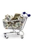 koszykowy banknotu zakupy Obraz Stock