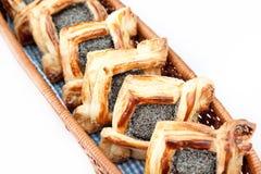 koszykowy croissant Obrazy Stock