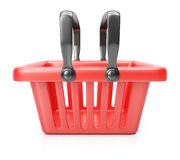 koszykowy czerwony zakupy Obrazy Stock