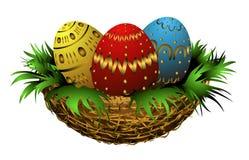koszykowy Easter Obraz Royalty Free