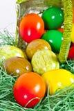 koszykowy Easter koszykowi jajka Obrazy Royalty Free