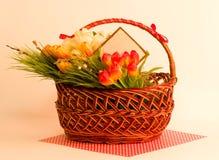koszykowy Easter kwitnie wiosna Zdjęcie Royalty Free