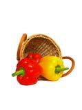 koszykowy isolate pieprzu trzy biel Zdjęcie Royalty Free