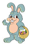 koszykowy królika Easter jajko Obrazy Royalty Free