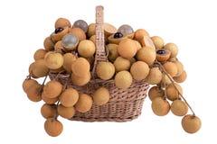 koszykowy longan zakupy Zdjęcia Royalty Free