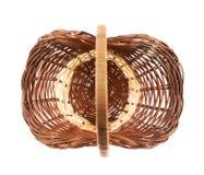 koszykowy odosobniony wicker Zdjęcie Royalty Free