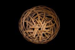 koszykowy odosobniony wicker Fotografia Royalty Free