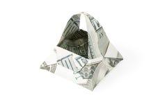 Koszykowy origami robić dolary Obraz Royalty Free
