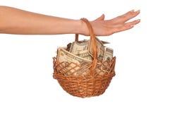 koszykowy pieniądze Zdjęcie Royalty Free