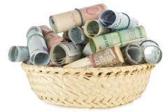 koszykowy pieniądze Obraz Royalty Free