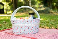 koszykowy pinkin przy łąką Obraz Stock