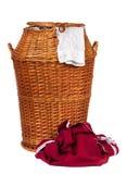 koszykowy pralniany wicker Zdjęcia Royalty Free