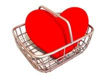 koszykowy serce konsumentów s Obrazy Stock