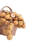 koszykowy smoka oka owoc s zakupy Zdjęcia Royalty Free