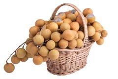 koszykowy smoka oka owoc s zakupy Zdjęcia Stock