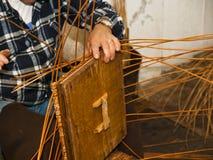 Koszykowy tkactwo Obraz Stock