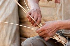 koszykowy wickerwork Fotografia Royalty Free