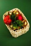 koszykowych dekoracj nowy s rok Zdjęcie Stock