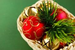 koszykowych dekoracj nowy s rok Zdjęcie Royalty Free