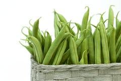 koszykowych fasoli zielony wicker Zdjęcie Royalty Free