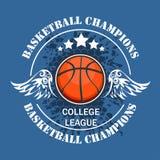 Koszykówki mistrzostwo - wektorowy emblemat Zdjęcie Royalty Free
