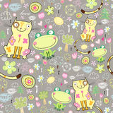 kotów żab miłości tekstura Zdjęcia Royalty Free