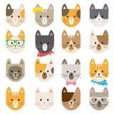Kotów charaktery ustawiający Zdjęcia Royalty Free