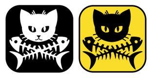 Kotów Crossbones ilustracja wektor