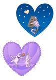 kotów dzień rysunku miłości miłość valentine Zdjęcia Stock
